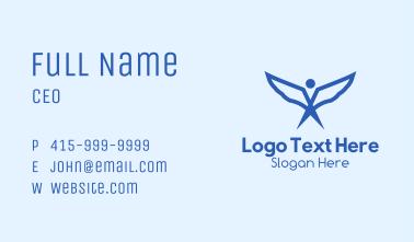 Blue Angel Wings Business Card