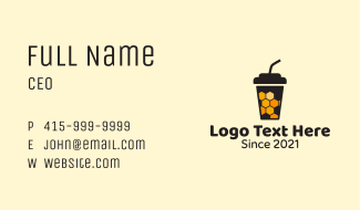 Hive Honey Drink Business Card