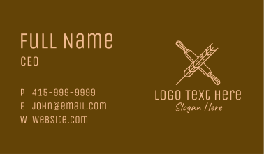Rolling Pin Wheat Business Card