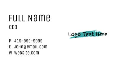 Art Gallery Wordmark  Business Card