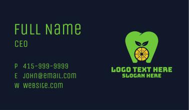 Citrus Tooth Healthy Dentist Business Card