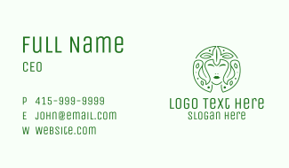 Organic Woman Leaves Business Card