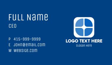 Blue Marketing Window Business Card