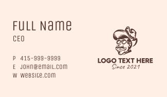 Cowboy Man Character  Business Card