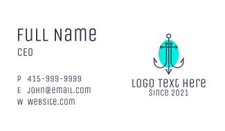 Minimalist Marine Anchor Business Card