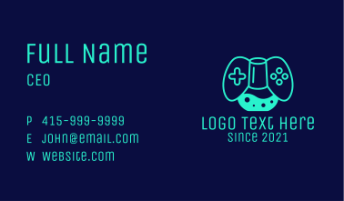 Chemist Game Console Business Card