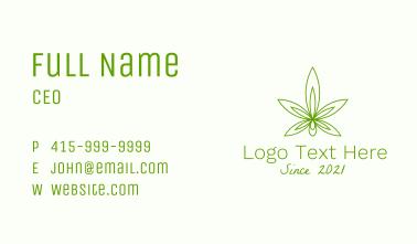Cannabis Oil Extract Business Card