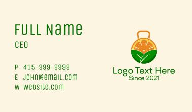 Kettlebell Orange  Business Card
