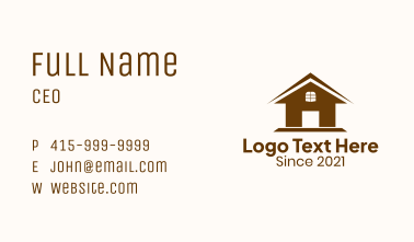 Small Residential House Business Card