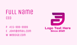 Fast Abstract Letter D Business Card