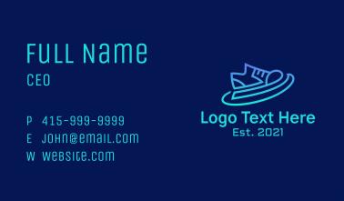 Futuristic Rubber Shoes Business Card