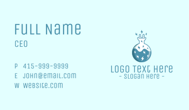 Electric Lab Innovation Experiment Business Card