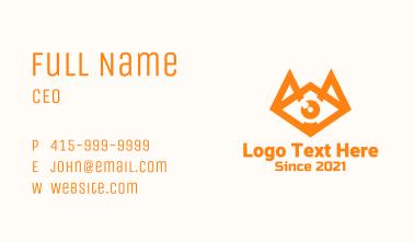 Orange Eye Fox Business Card