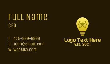 Atom Light Bulb Business Card