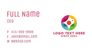 Colorful Journalist Badge Business Card