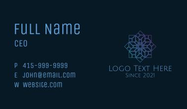 Gradient Ornate Snowflake Business Card