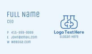 Blue Flask Cross Business Card