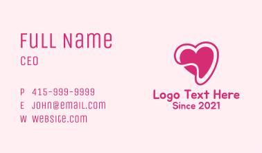 Pink Heart Sticker  Business Card