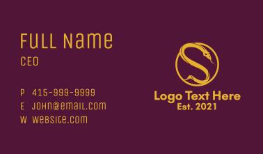 Gold Serpent Emblem  Business Card