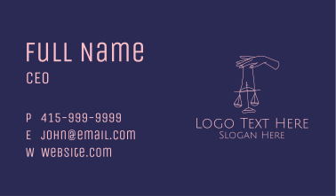 Libra Scale Astrology Business Card