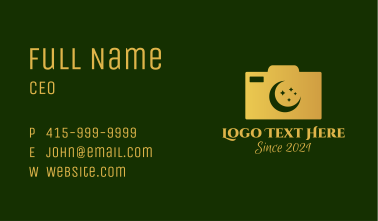 Muslim Photography  Business Card