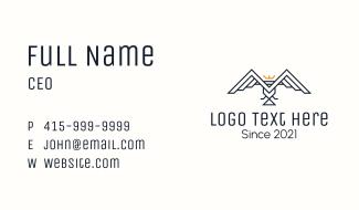 Geometric Royal Bird Business Card
