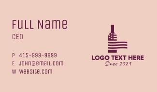 American Wine Bar  Business Card