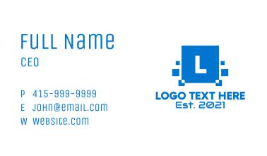 Data Pixel Letter  Business Card