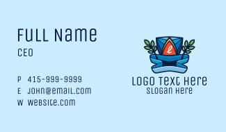 Pool Resort Lettermark Business Card