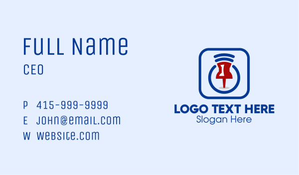 tracker - GPS Location Pin Business card horizontal design