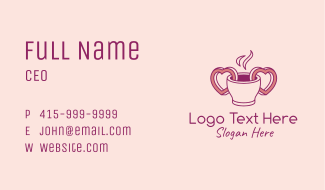 Coffee Date Drink Business Card