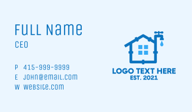 House Pipeline Service Business Card