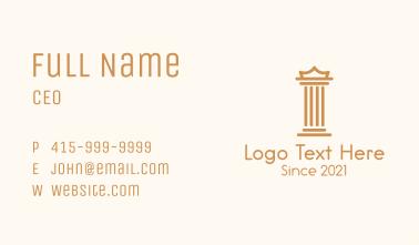 Brown Pillar Crown Business Card