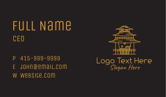 Coffee Temple Outline Business Card