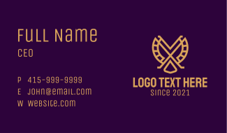 Golden Falcon Business Card