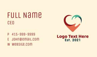 Heart Hand Splash Charity Business Card