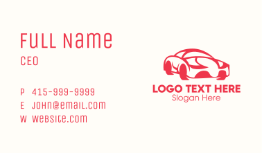 Red Luxury Car Business Card