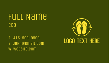 Tropical Summer Slippers Business Card