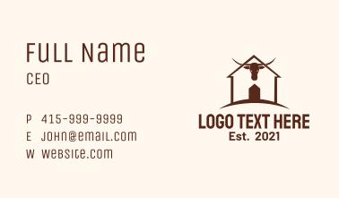 Farm House Bull Business Card