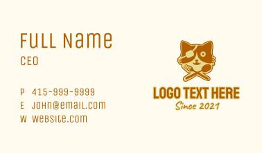Pirate Cat Food  Business Card