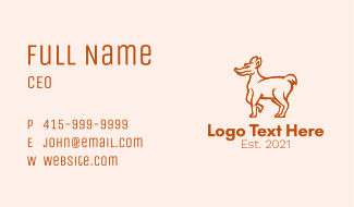 Coyote Animal Mascot Business Card