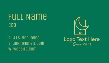 Islam Moon Mobile App  Business Card