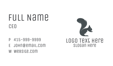 Squirrel & Dog Silhouette Business Card
