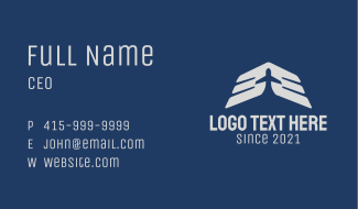 Airplane Wings Aviation Business Card