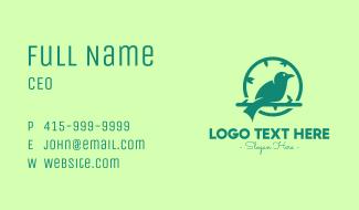 Green Forest Bird Business Card