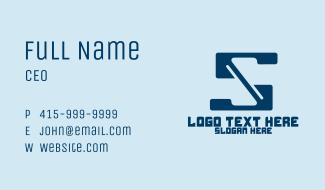 Super Tech Letter S Business Card