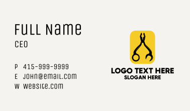 Plier Combination Tool Business Card