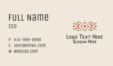 Orange Tribal Detail Business Card