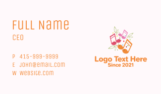 Musical Song Bird Business Card