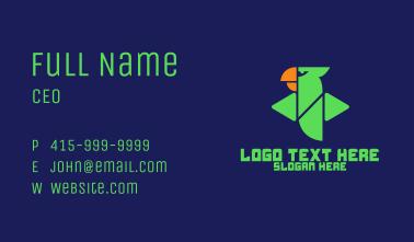 Green Digital Parrot Business Card